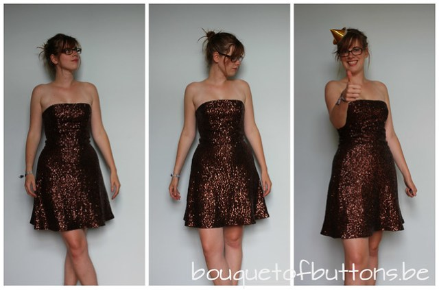 short sequin dress, korte glitter jurk