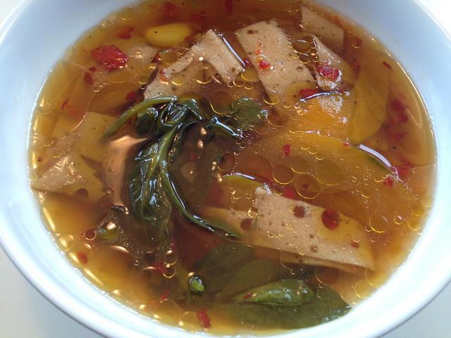 Braised pea leaves - Mission Chinese Food