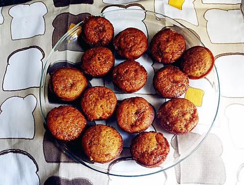 Muffins on toast