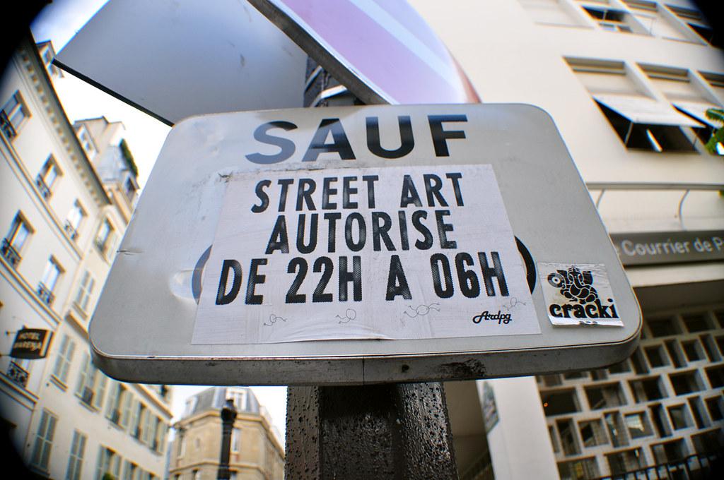 SAUF Street Art Autorisé (de 22h à 06h)