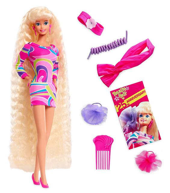 《芭比娃娃》史上最暢銷的傳說芭比復刻再登場!「芭比娃娃 長髮芭比 復刻版」Totally Hair Barbie | 玩具人Toy ...