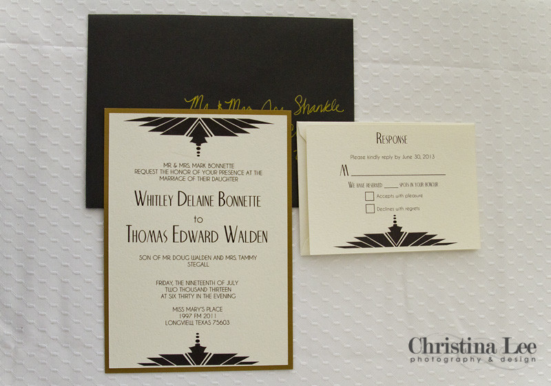 Wedding Invite Back-Gold Old Hollywood