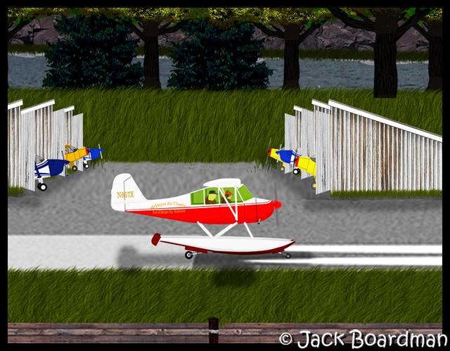 Sarah & Chris start their takeoff