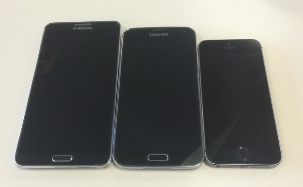 Smartphone size comparison