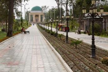 Het park draagt de naam van Choedzjand, ook al een poëet.