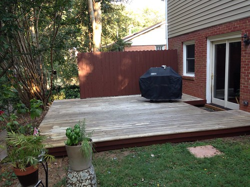 Deck with dark trim