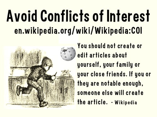 Wikipedia Lesson: Avoid Conflicts of Interest