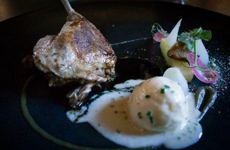 Course 4 - Confit duck leg, truffle egg