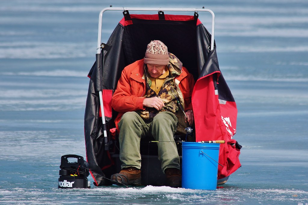 Carny winter for Lake superior ice fishing