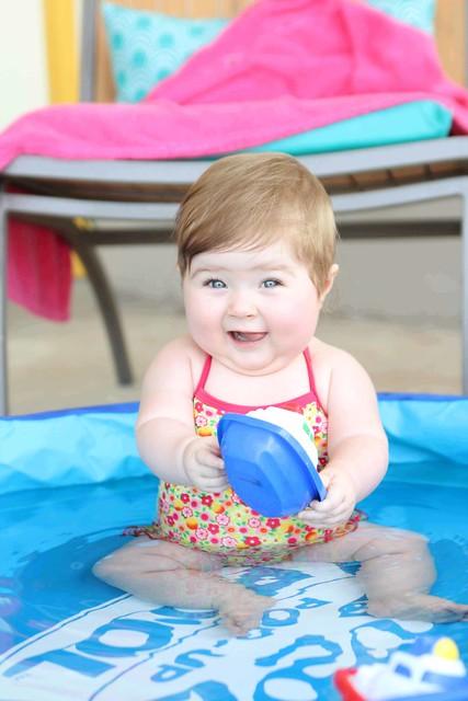 Harper in the pool