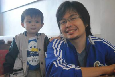 Daddy Jejomar and Son Kiel
