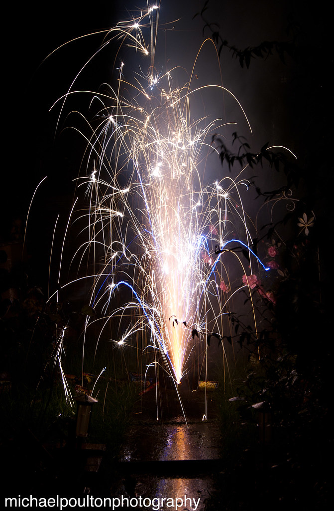 Exploding with sparks