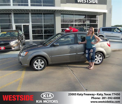 Westside Kia would like to say Congratulations to Brian Kolb on the 2011 Kia Rio from Damon Clayton by Westside KIA