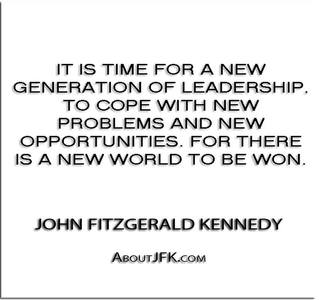 ''It is time for a new generation of leadership, to cope
