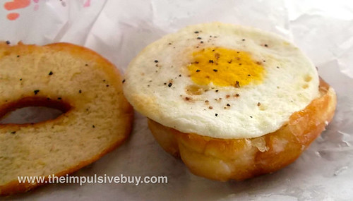 Dunkin' Donuts Glazed Donut Breakfast Sandwich Pepper Egg