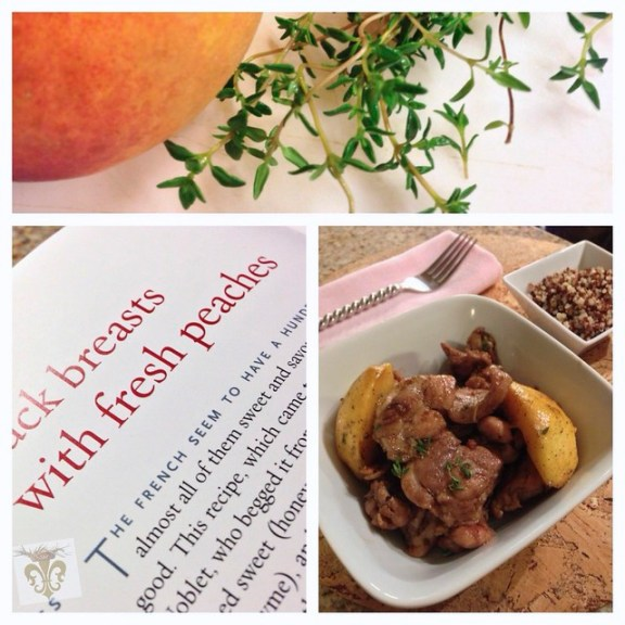 Chicken Thighs with Fresh Peaches