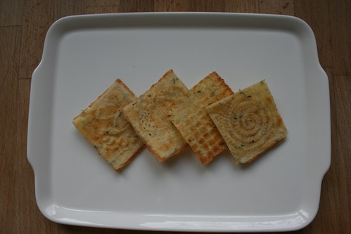 rosemary & parmesan wafers by the james kitchen