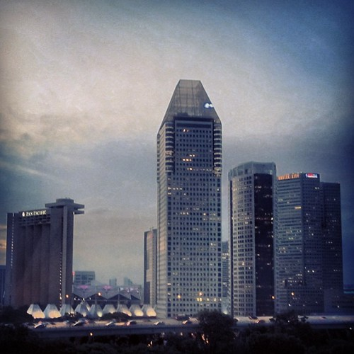View from the #singaporeflyer #singapore by @MySoDotCom