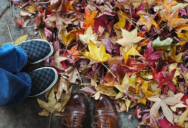 Us, Feet, Leaves