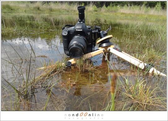 Berlebach in de praktijk, voorzien van een BH-25 balhoofd van RRS. De L-bracket van de camera geeft samen met de levelingbase een bijzonder voordeel.