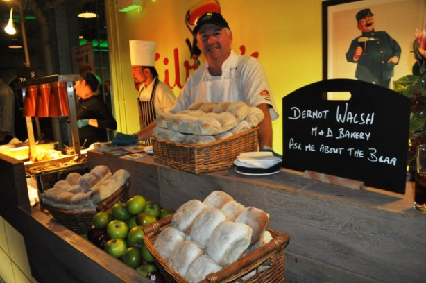 Dermot Walsh of M&D Bakery in Ireland Explains the Irish Bread, Blaa during TBEX Opening Night Event at Guinness Storehouse
