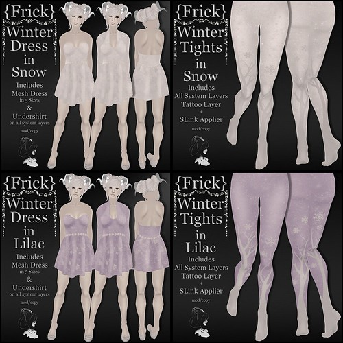 {Frick} Winter Dress & Tights in Snow & Lilac