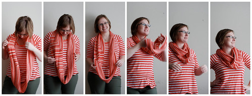 cowl twist collage