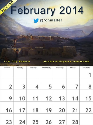 Free! February 2014 Calendar featuring the Lost City Museum (Attribution-ShareAlike License) @lostcitymuseum  #nv150 #nevada