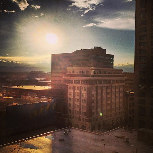Afternoon sun from The Curtis #denver by @MySoDotCom