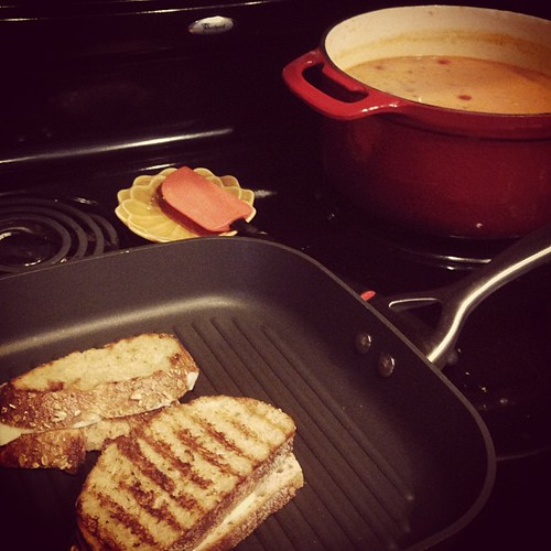 Grilled cheese and a big pot of tomato soup for dinner.  What's up August?  #imnotcomplaining