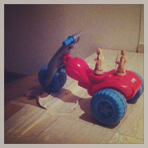 Mary & Joseph ride a motorbike to Bethlehem by nikki.j.thorpe