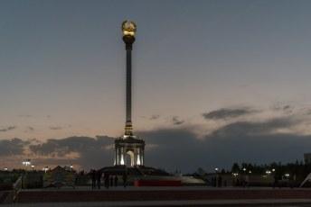Het Gerb Monument vlak voor we gingen slapen.