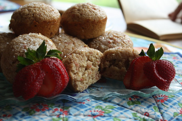 Saturday breakfast-Strawberry Orange Muffins