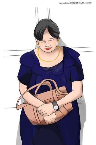 """""""Big Dress"""" (#184: Project 365 Sketches)"""