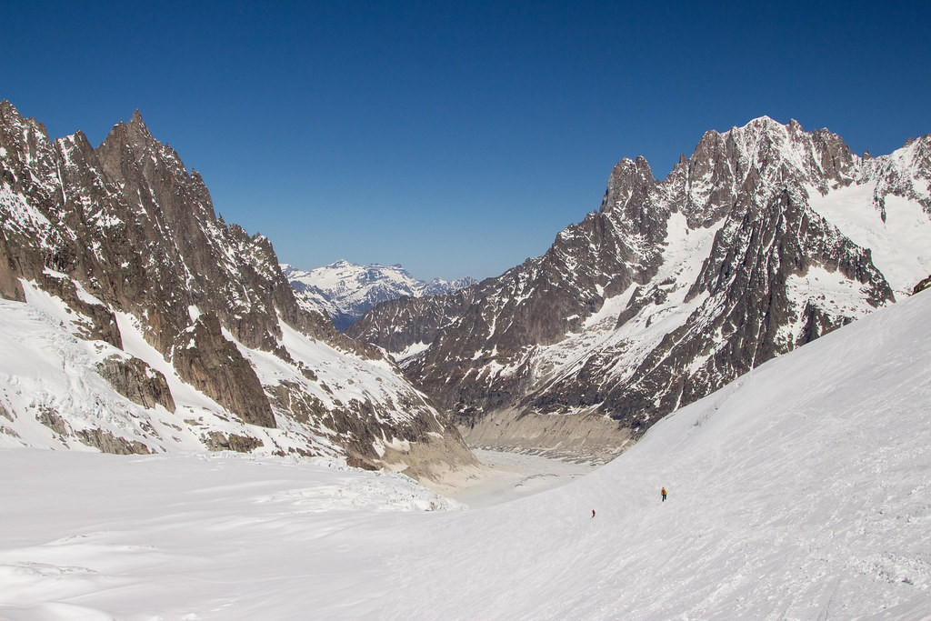 Skiing the Vallée Blanche