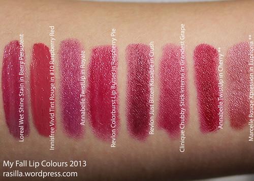 Fall Lip Colours