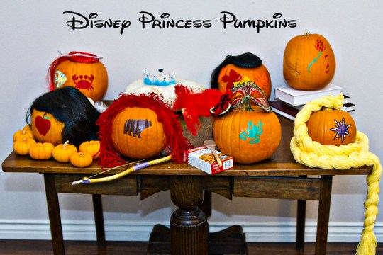 disney princess pumpkins