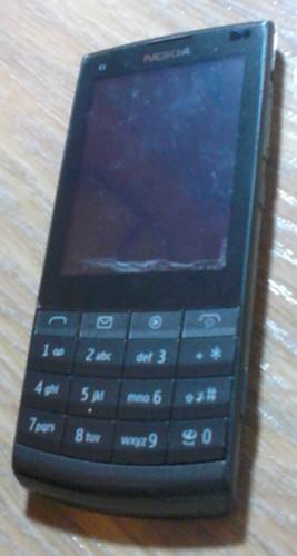 Nokia X3-02 pantalla planchada