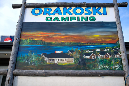Camping site sign