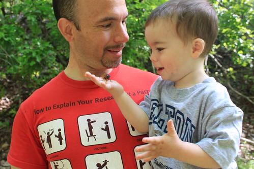 Memorial Day 2013 - Daddy and Sagan Smile at Cicada