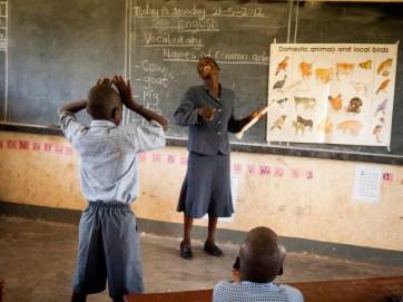 Un insegnante non udente