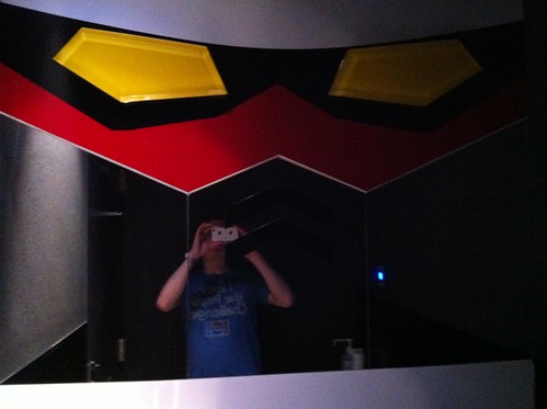 Gundam Cafe toilet mirror