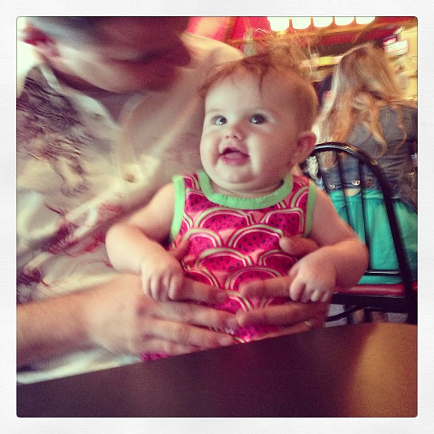 Evey's first sushi joint!