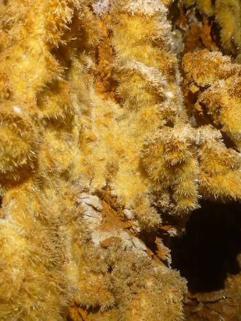aragonites dans l'aven de l'air chaud
