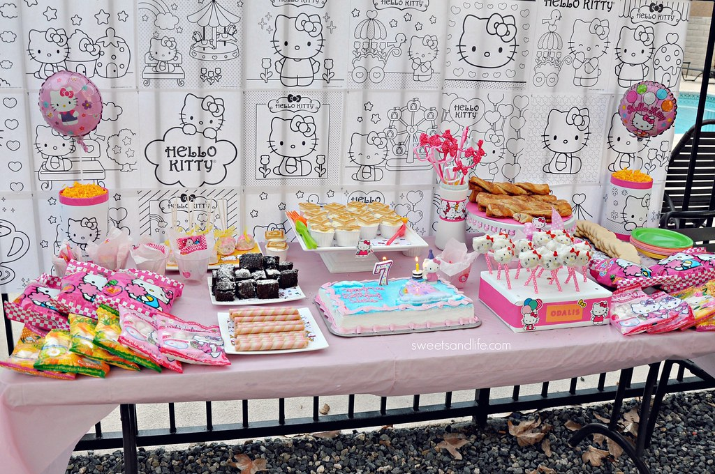 Hello Kitty Dessert Table