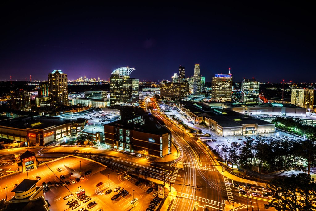 Buckhead at Night with Sony A7r + Canon EF16-35mm f/2.8L II