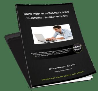 Informe gratis sobre como montar tu propio negocio en internet sin tener que invertir grandes cantidades de dinero, de forma fácil y en poco tiempo