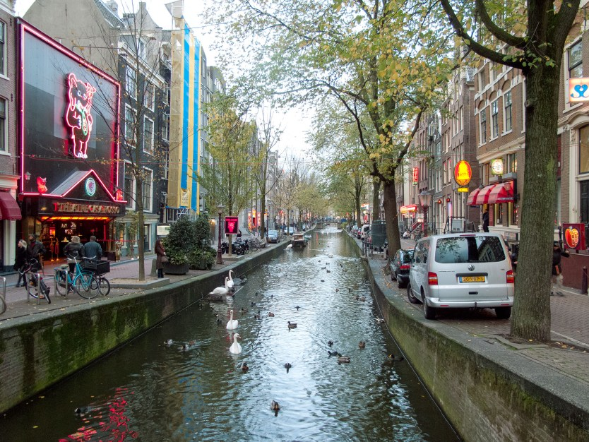 The Red Light District, Amsterdam.