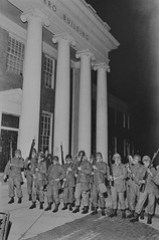 National Guard Outside Taliaferro Hall at U of MD: May 1970