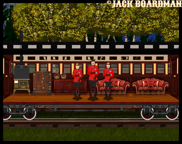 The Mounties inspected the rail cars